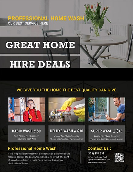 free house cleaning services flyer template
