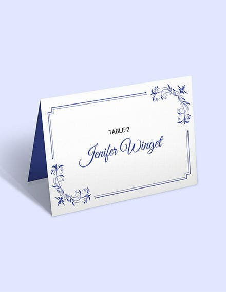 free lace place wedding place card template