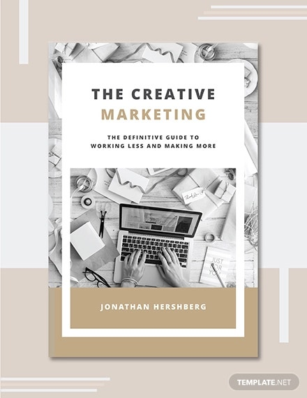 free marketing book cover template