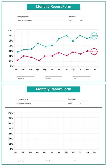 Free Monthly Report Template