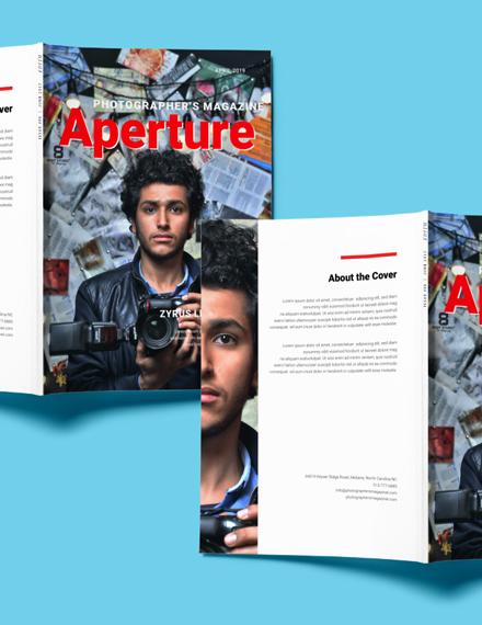 free photographer magazine template 1 1x