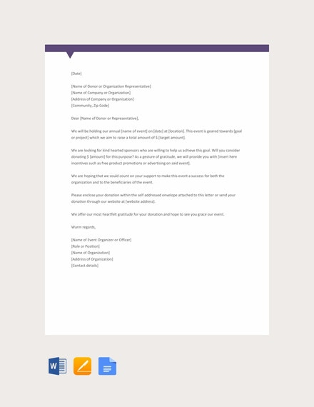 free sample donation request letter for non 440x570 1