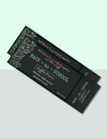 free school raffle ticket template