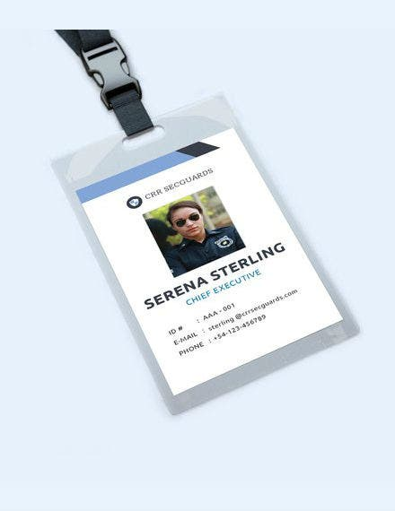free security guard id card template