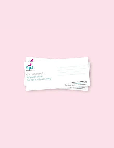 free-spa-envelope-template