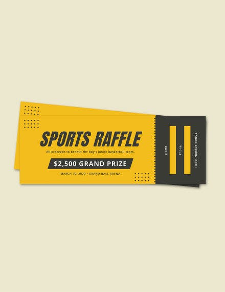 free sports raffle ticket template