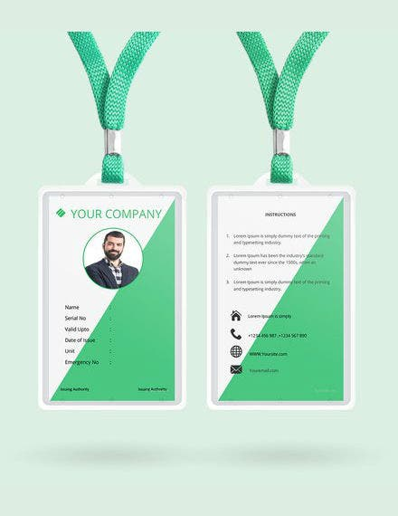 free staff blank id card template