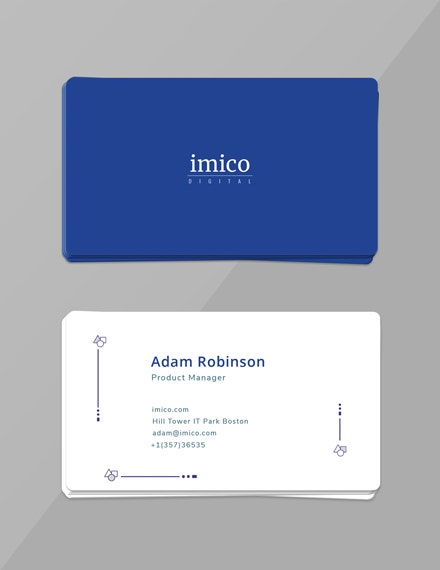 free tech start up business card template