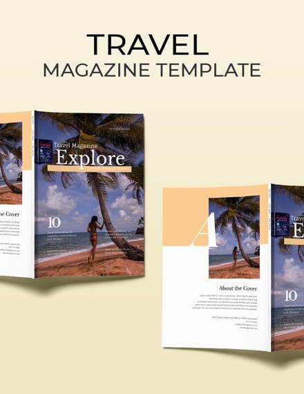 free travel magazine template