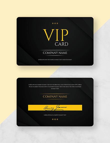 free vip membership card template