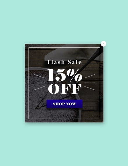 free website flash sale pop up template