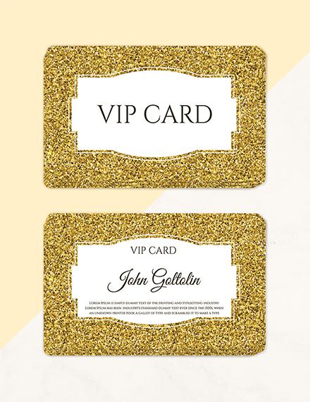 golden membership card design template