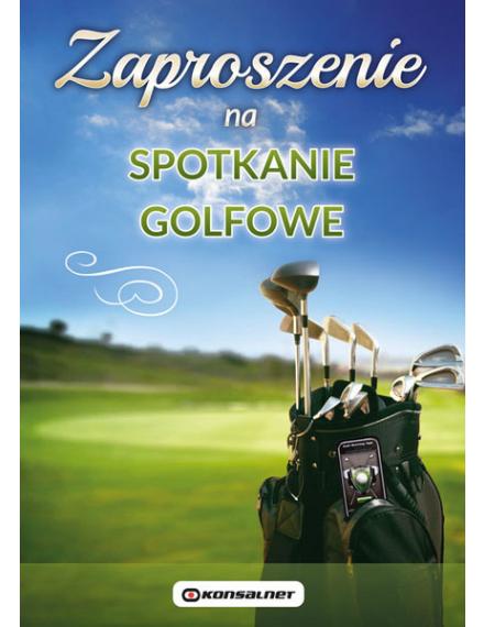 golf course business invitation design