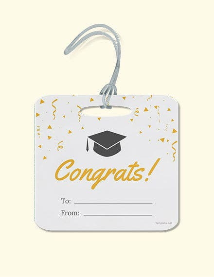 Graduation Gift label Template