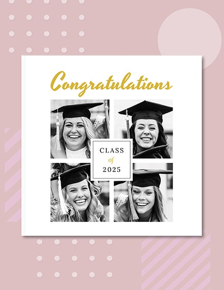 Graduation Photo Book Cover Sample