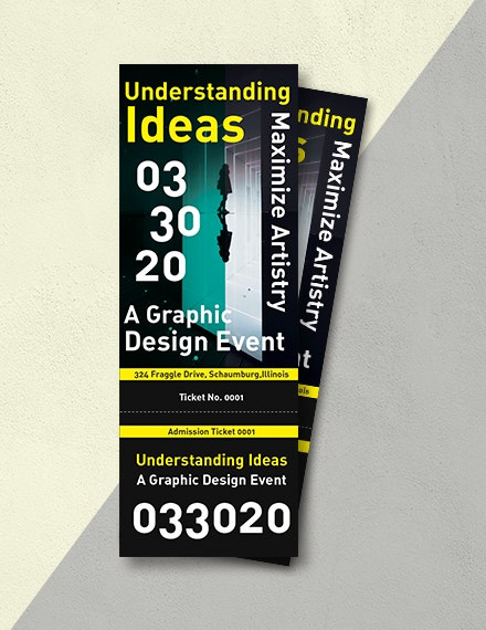graphic event admission ticket example