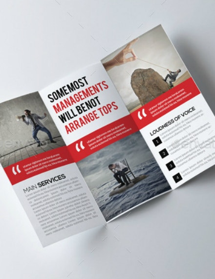 graphic trifold business brochure format