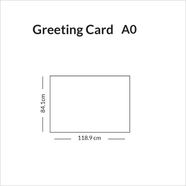 greeting card size a0 infographic