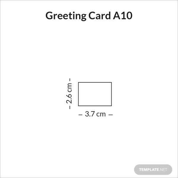 greeting card size a10 infographic
