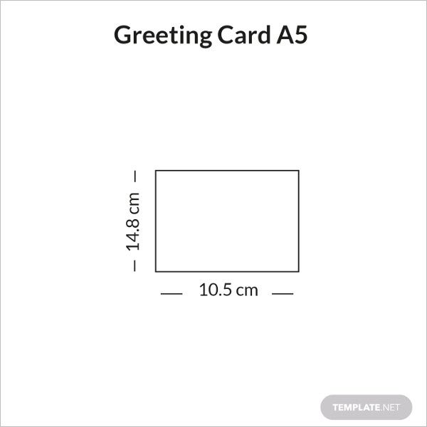 greeting card size a5 sample infographic