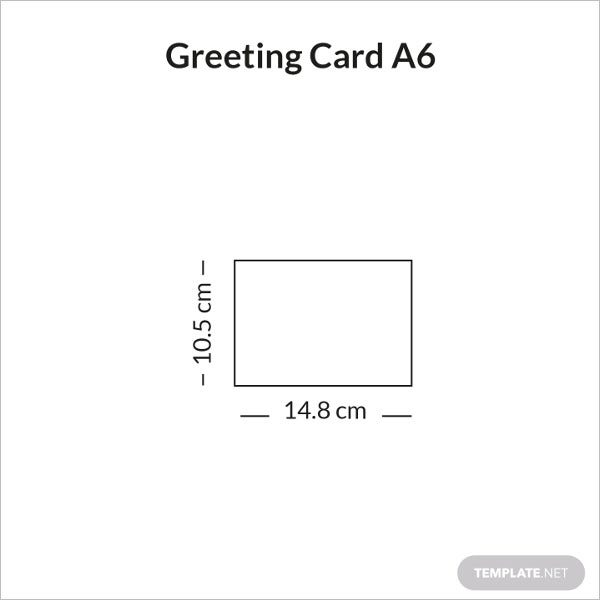 greeting card size a6 sample infographic