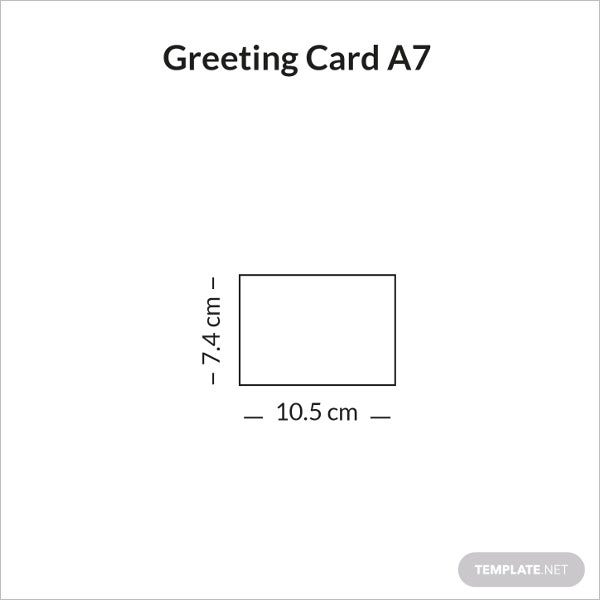 greeting card size a7 sample infographic