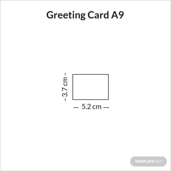 greeting card size a9 sample infographic