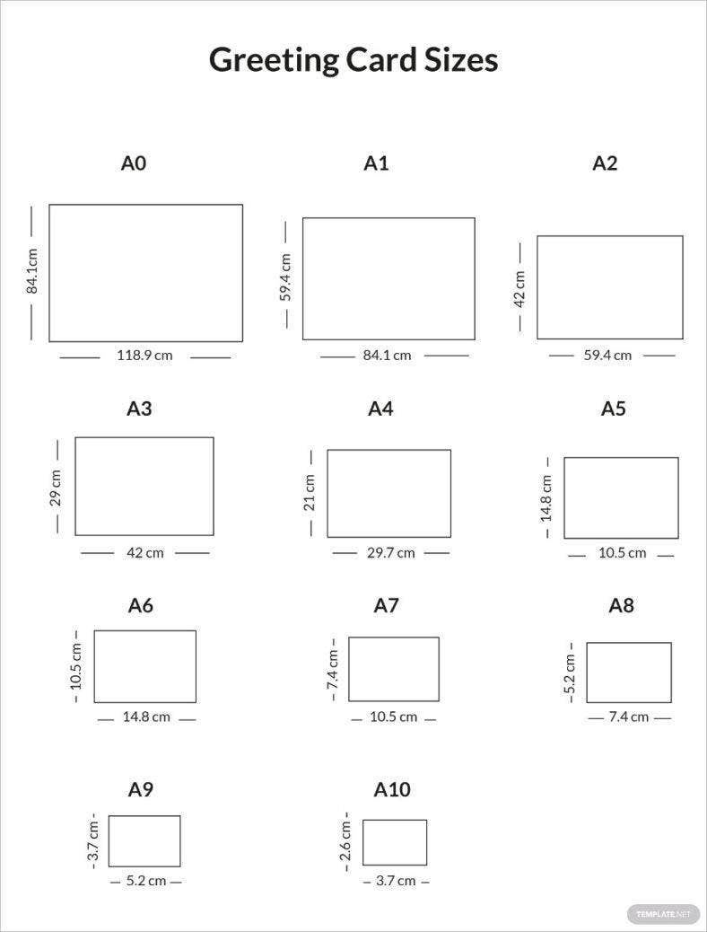 greeting card sizes sample infographic 788x1038
