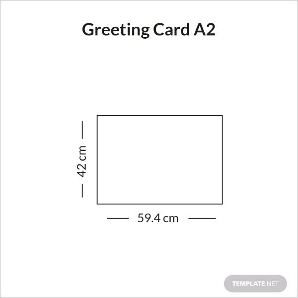 greeting card size a2 infographic