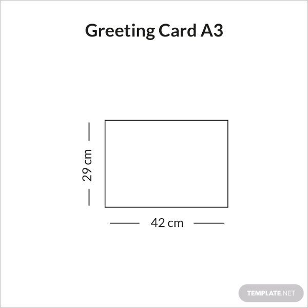 greeting card size a3 infographic