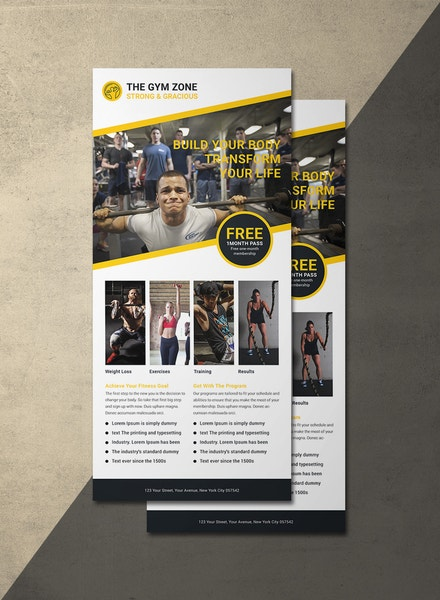 gym rack card template1