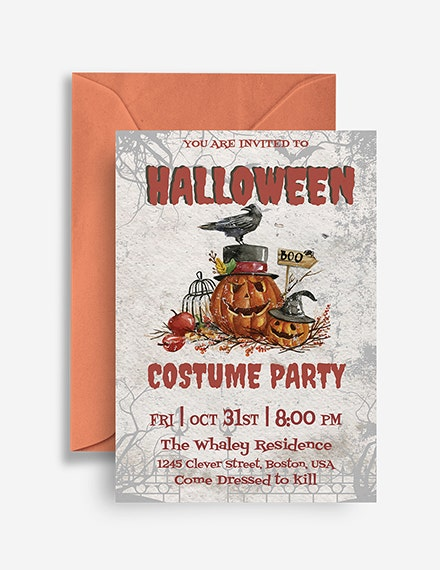 Halloween Costume Party Invitation Sample
