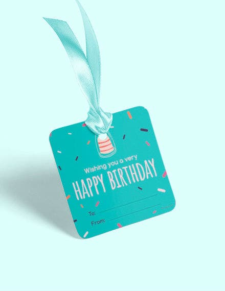 Happy Birthday Gift Label Template