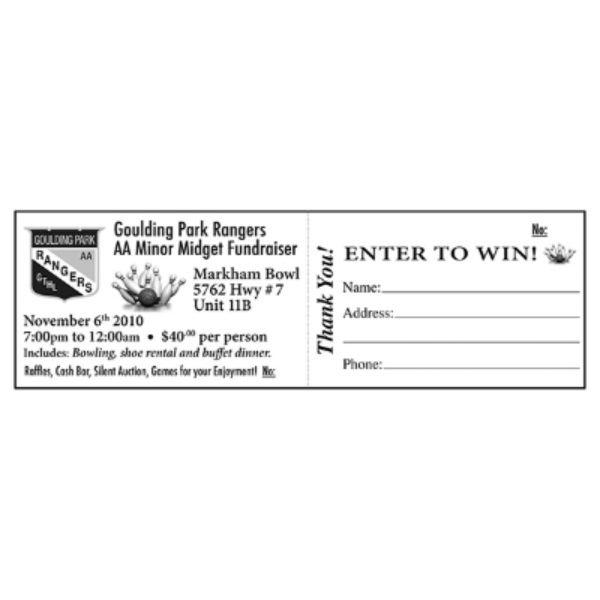 hockey raffle tickettemplate
