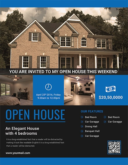 House Viewing Event Flyer Template