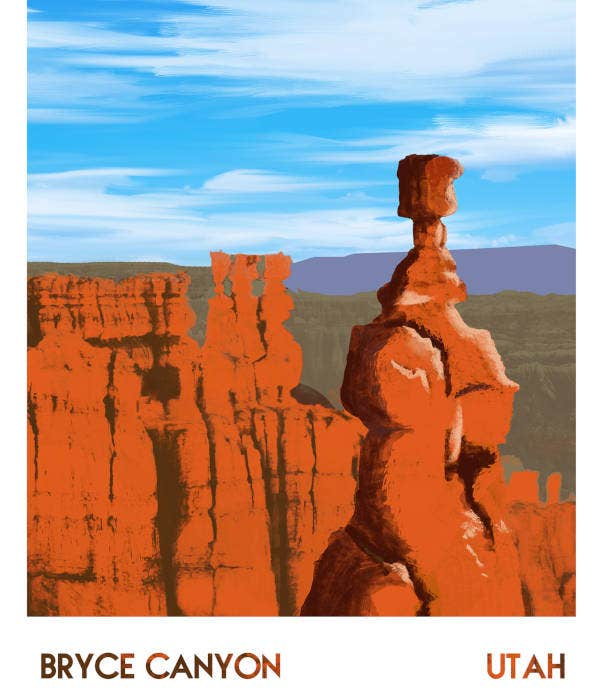 Illustrated Travel Poster Format