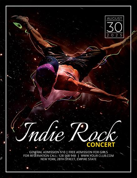 Indie Concert Flyer Template1