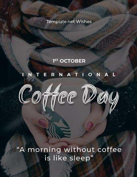 International Coffee Day Greeting Card