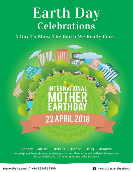 international earth day poster template