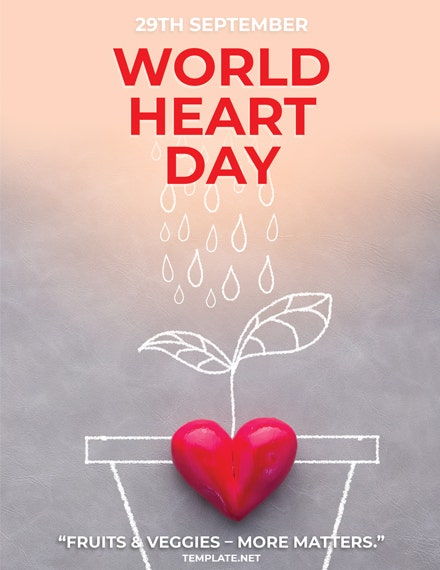 international heart day greeting card