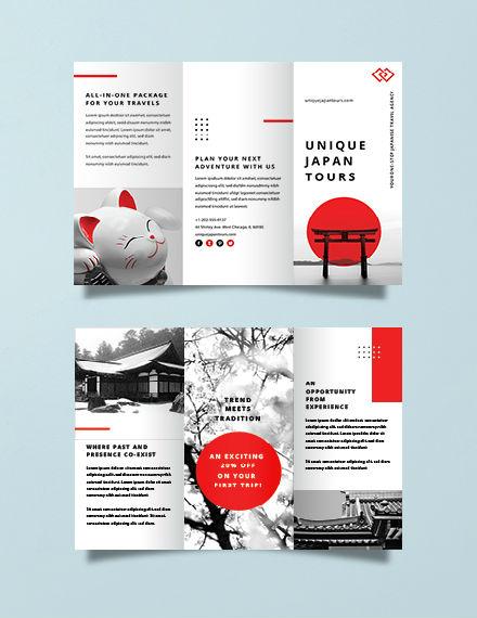 japan travel brochure template 440px