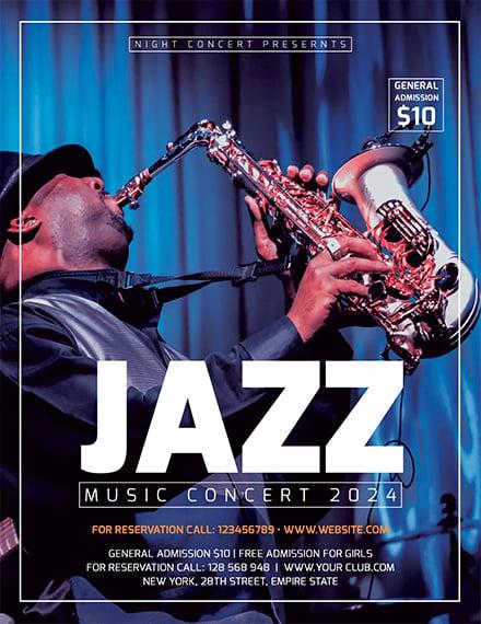 jazz concert flyer 1x1