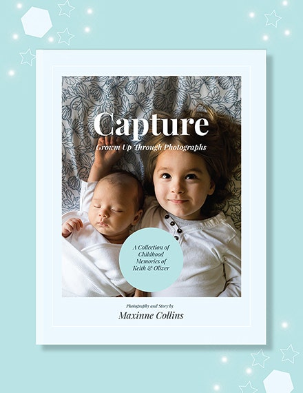 Kids Photo Book Cover Template