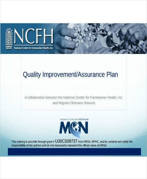 Lab Quality Improvement and Assurance Plan