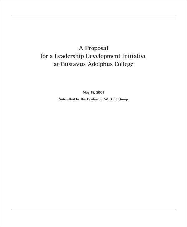 leadership initiative proposal