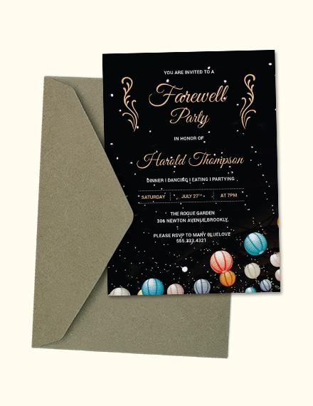 Luxurious Farewell Party Invitation Design