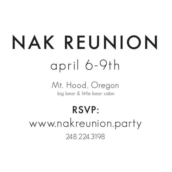 minimalist reunion invitation design