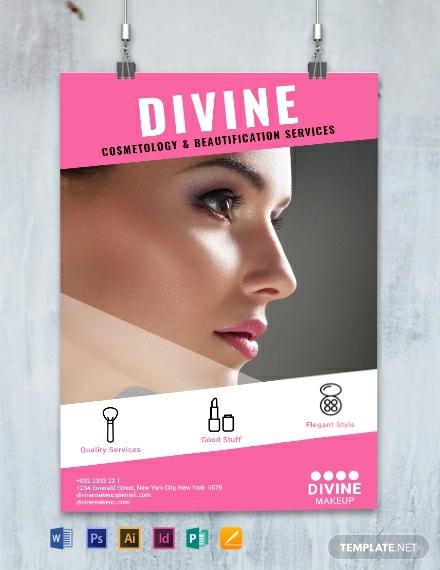 makeup artist poster template2