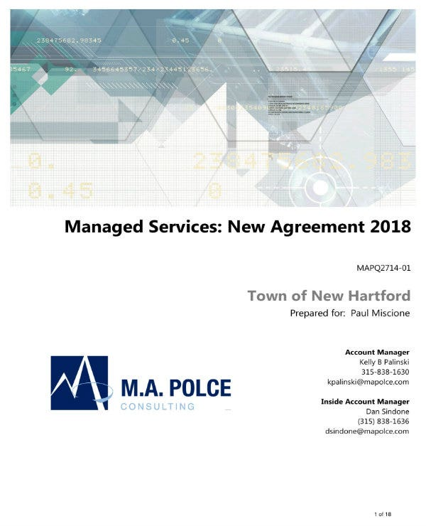 5 Managed Services Agreement Contract Templates Word