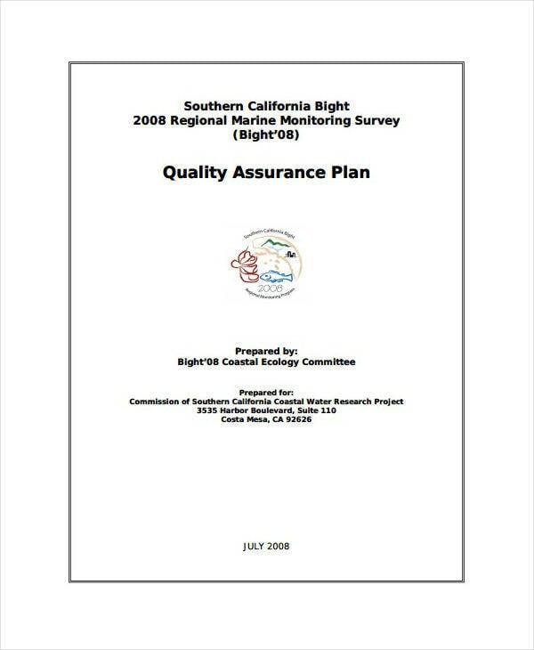 Marine Laboratory Quality Assurance Plan